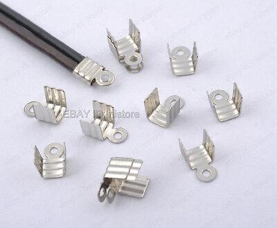 30Pcs Connectors Over Clip Tips Cord Crimp Ends Bead Caps 25x8mm