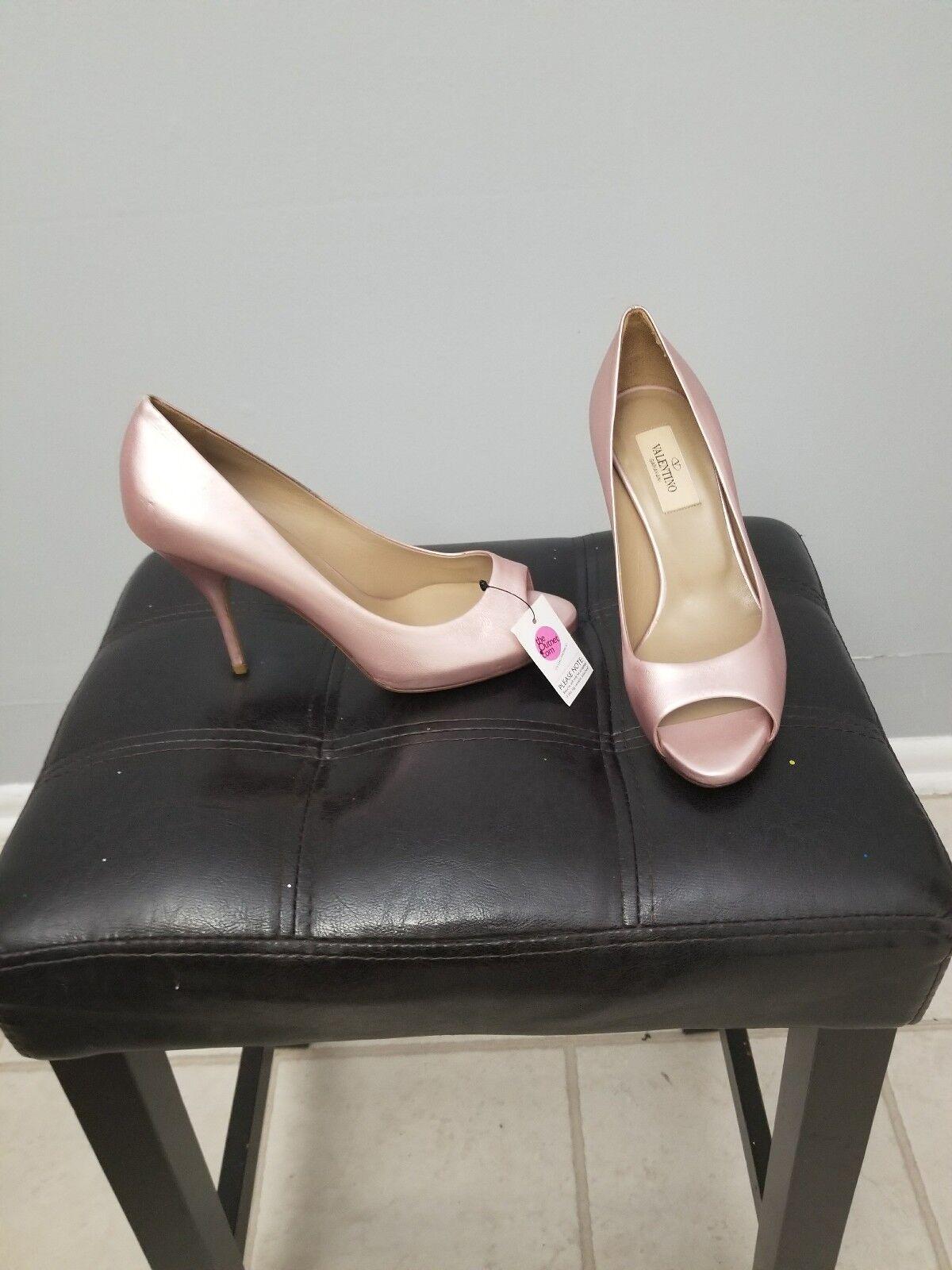 Valentino Women's Pink - Leather, EU 37 US 7 Brand Brand Brand New No Box b7bc2f