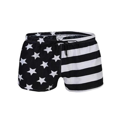Summer Men/'s Swim Trunks American Flag Swimwear Male Shorts Swimsuit Surfing K87