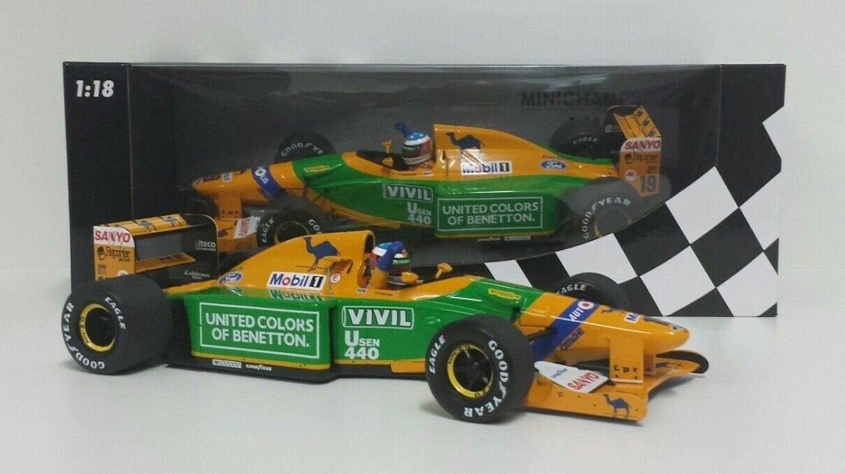 Minichamps 1 18 Voiture Modèle F1 Benetton Ford Schumacher Gp Allemagne 1992