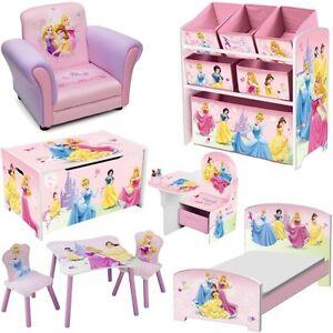 Kinderzimmer prinzessin  Disney Princess Holz Kindermöbel Deko Kinderzimmer Prinzessin ...