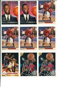 Lot-of-19-Calbert-Cheaney-Basketball-Cards-Rookie-RC-NBA-Bullets