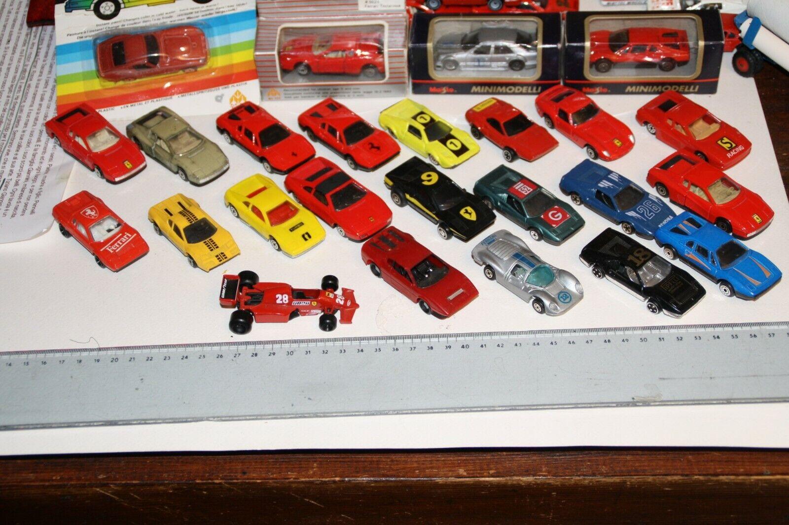 Lotto 25 modellololi Ferrari anni '80 scala 1 66 Teestrellaossa 250 GTO 308 GTS P4 365BB