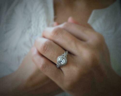 Details about  /1.25Ct White Oval Cut Diamond Engagement Wedding Ring Solid 925 Sterling Silver