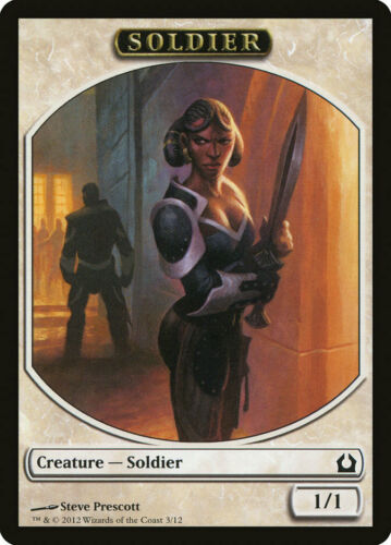 Prescott Art White 1//1 Soldier Token 10x MTG Magic NM