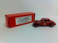 1939 Chevrolet Coupe Juan Manuel Fangio RARE 1/43 Scale Metal Argentina - NEW