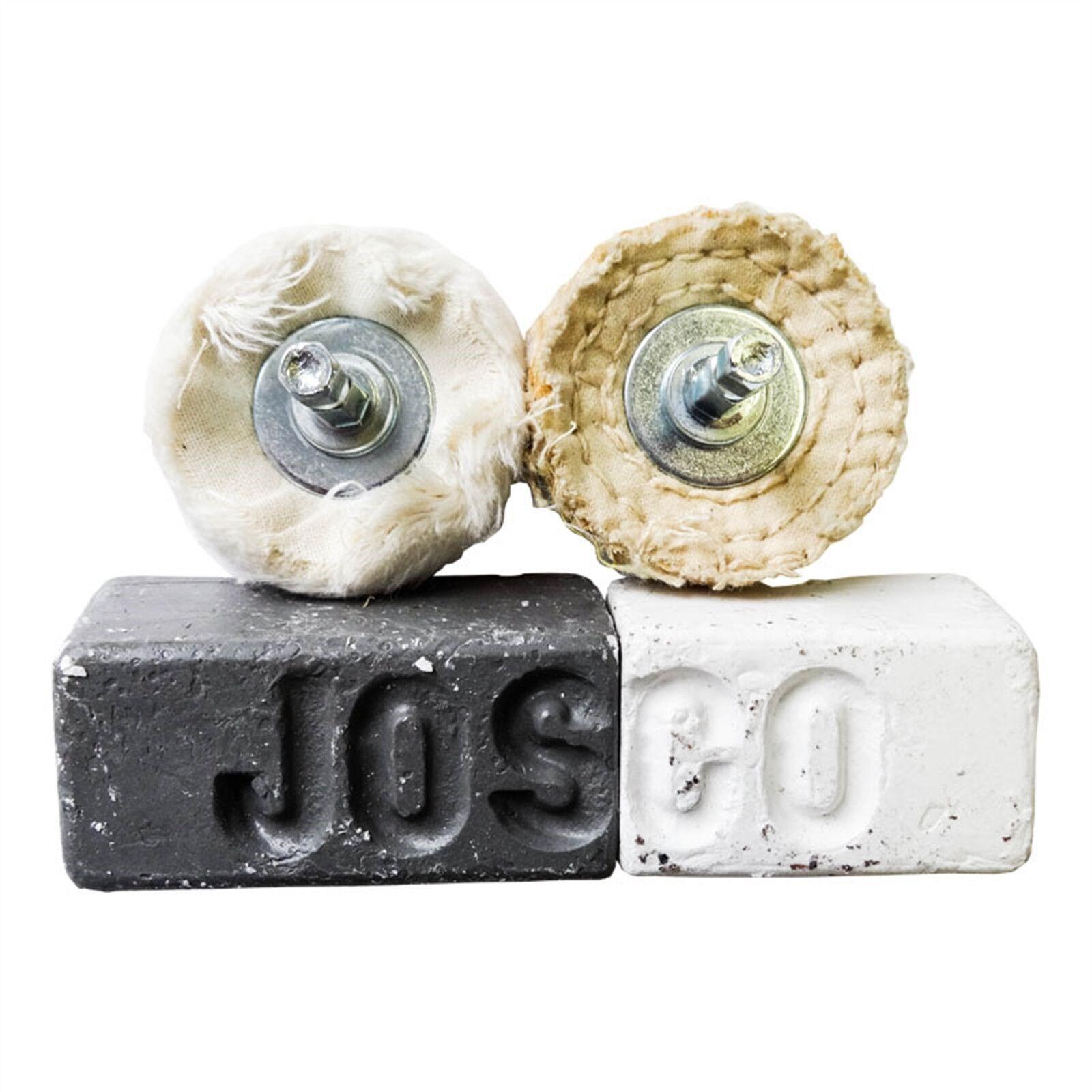 Josco METAL POLISHING KIT JPK1 Sisal & Calico Buff, Fastcut & SS Compound
