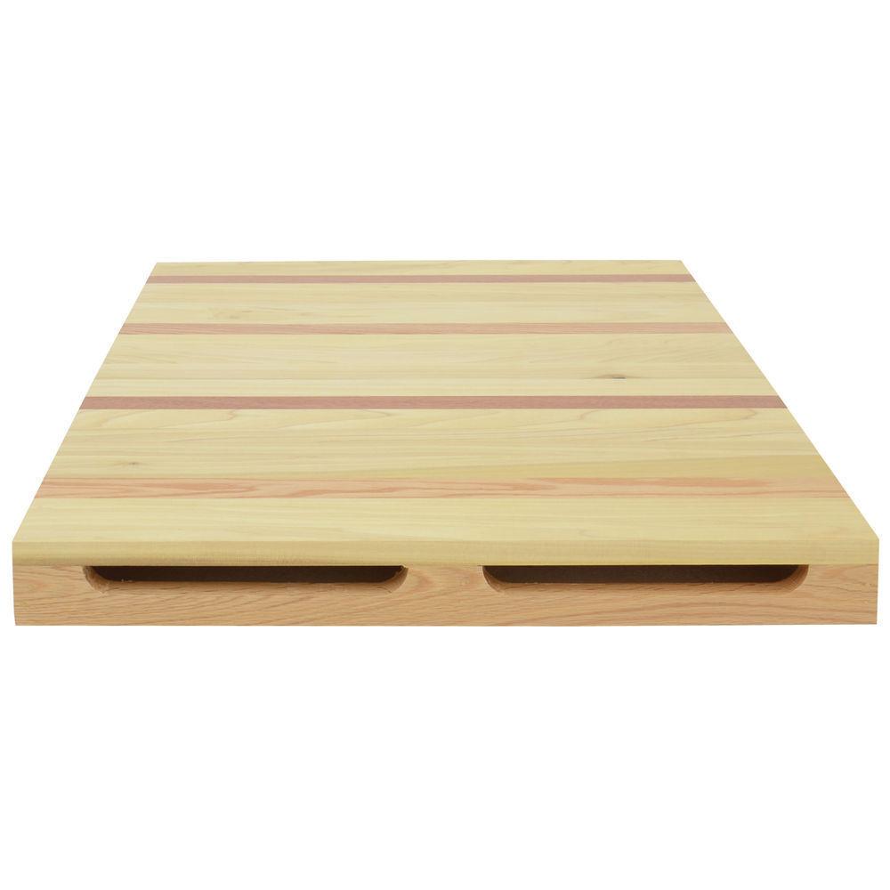 HUBERT Deli Riser Rectangular Multi-colord Wood - 24 L x 30 W x 2 1 2 H