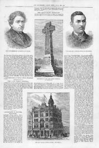 1881-Antique-Print-SCOTLAND-DUNDEE-Sailors-Home-KENT-CHISLEHURST-Monument-104