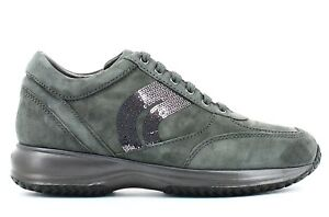 GEOX-HAPPY-D5462A-GREY-scarpe-donna-sneakers-pelle-casual-camoscio-strass-zeppa