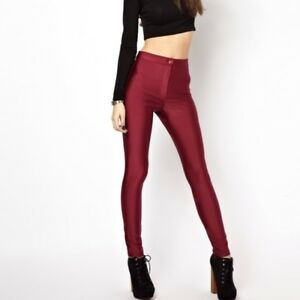 1994811bd08 NWT! H M Disco Pants Shiny High Waisted Skinny Form Fitting Sleek ...