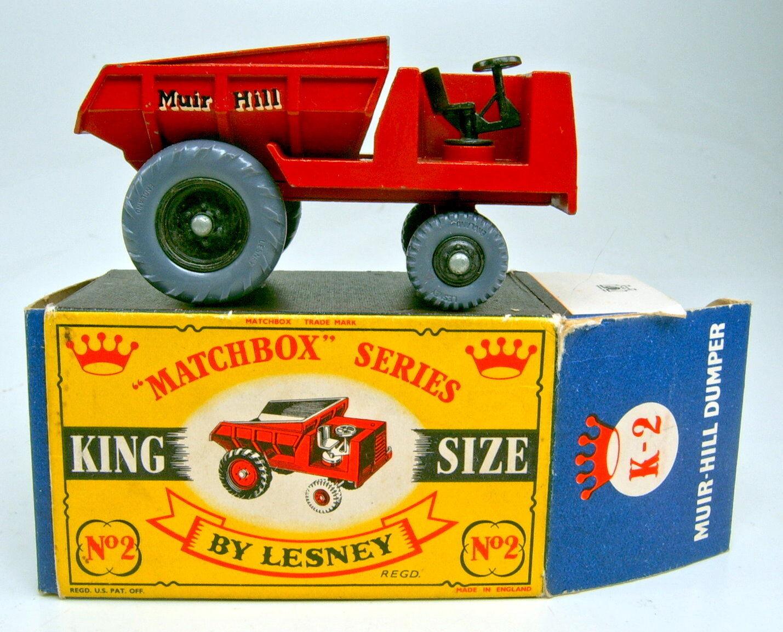 MATCHBOX k-2a Muir Hill cassone rosso PNEUMATICI grigia in in precedenza denominato  Crown  BOX
