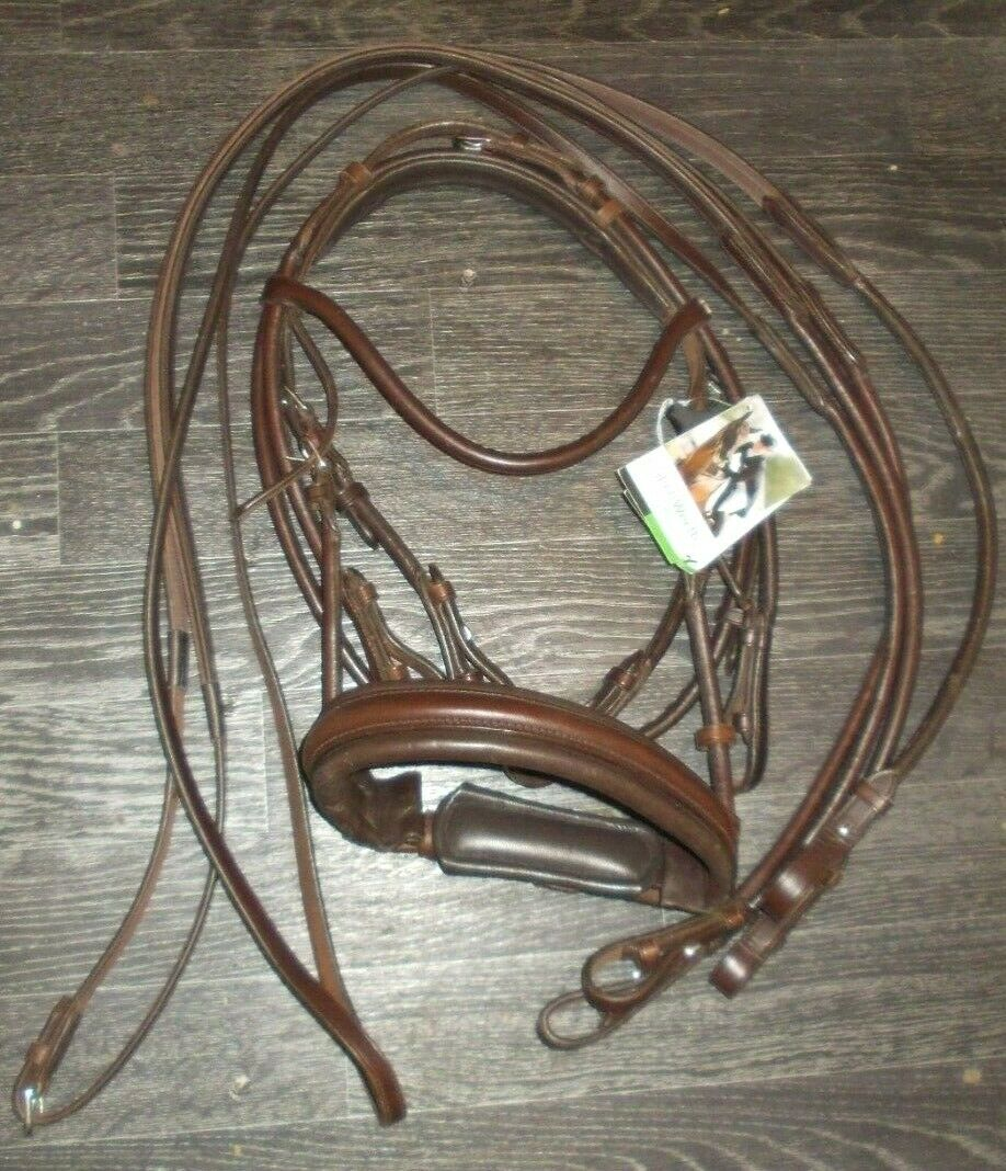 Bnwt isabell werth rolled double bridle   reins