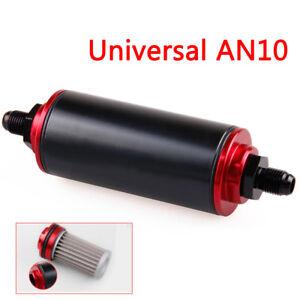 Universal-100-Micron-AN10-Billet-Aluminum-High-Flow-Fuel-Inline-Petrol-Filter