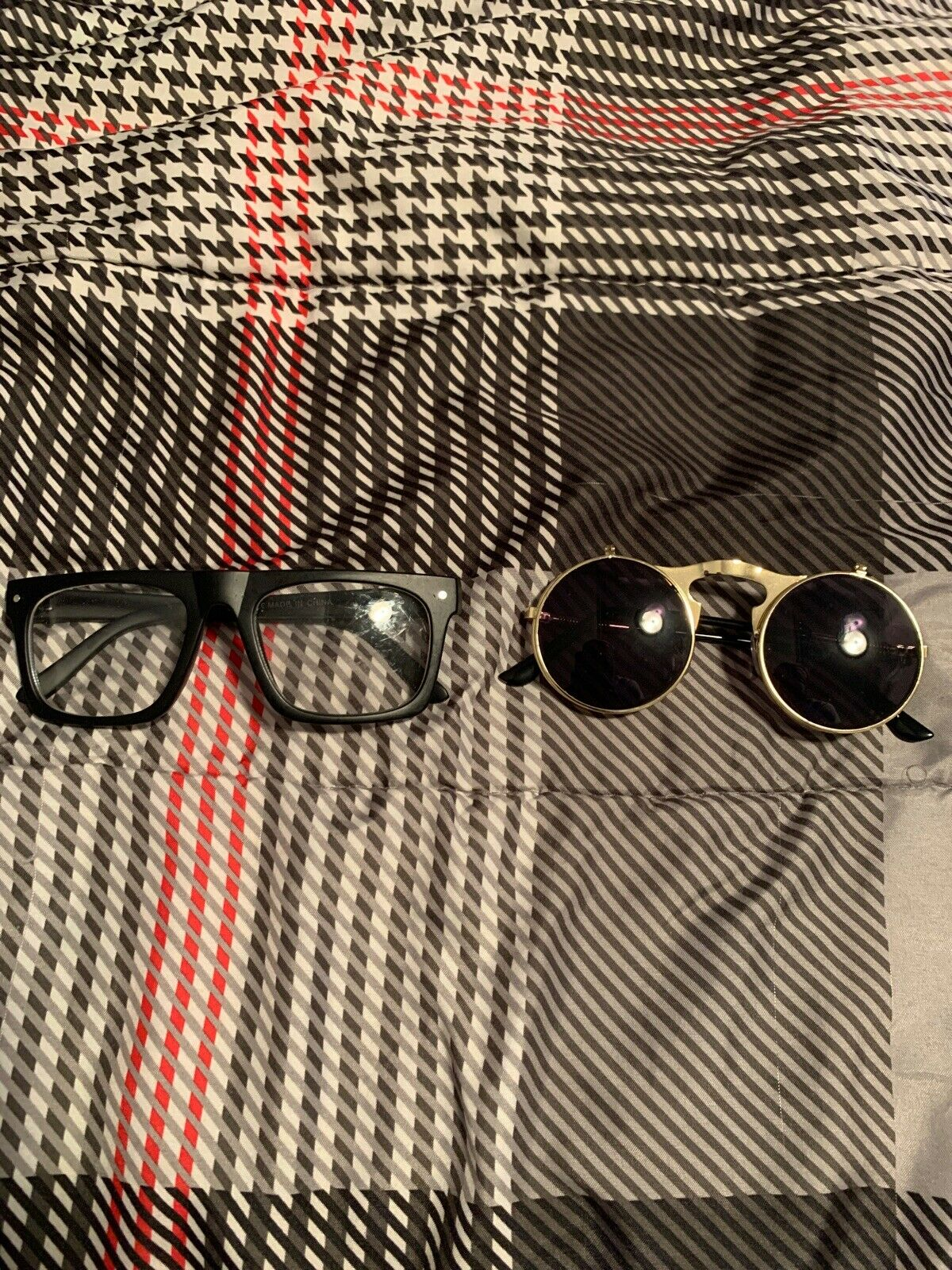 Lot Of 2 fashion Glasses Unisex Black Clear