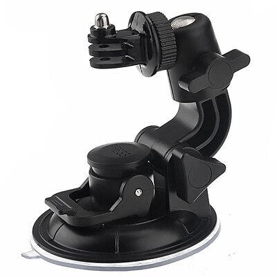 Suction Cup Mount + 1/4'' Tripod & Nut For GoPro HD Hero 4 3 3+ 2 1 SJ4000 SJCAM