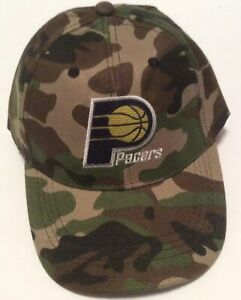 Indiana Pacers Camo Camouflaged Adjustable Strapback Hat NBA Basketball Cap