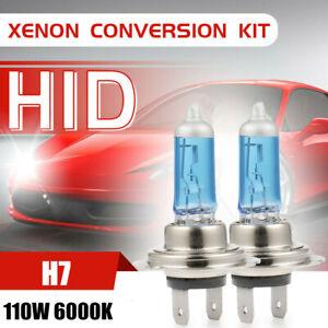 pair h7 xenon headlight 110w 20000lm halogen fog light 6000k driving drl lamp ebay. Black Bedroom Furniture Sets. Home Design Ideas