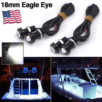 4pcs White LED Boat Light Deck Storage Kayak Bow Trailer Bass Waterproof 12v