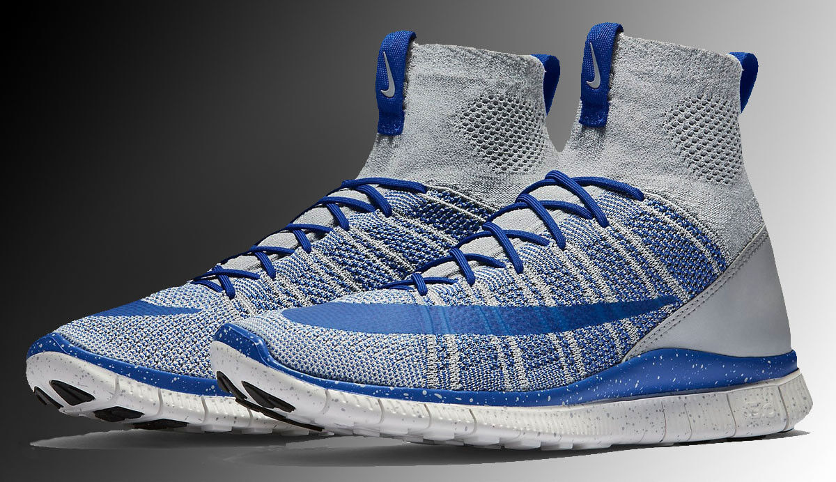 Nike libera flyknit volubile lupo grey-game royal blue-nero sz 11 (805554-003)