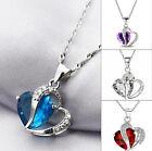 REGALO ideal collar plateado y colgante de corazones en cristal acrílico