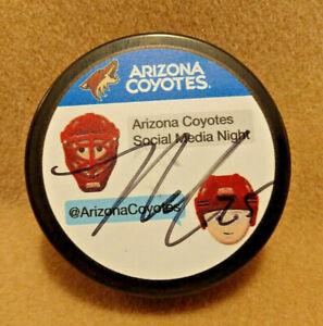 Arizona-Phoenix-Coyotes-Signed-Hockey-Puck-Nick-Cousins-NHL-Social-Media-Night