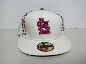 0b788451b23 NEW ERA VINTAGE ST. LOUIS CARDINALS BLACK RED FITTED HAT 59FIFTY MEN ...
