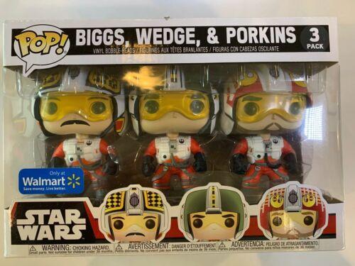 New Funko Pop and PORKINS 3-Pack Walmart Exclusive STAR WARS BIGGS WEDGE
