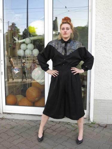 Hemd Blouse Woman Bluse Damen Nos Country Vintage 90er 90s Schwarz True Shirt x544Sw1q
