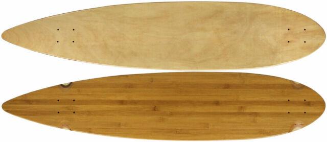 """Moose Longboard 9"""" x 43"""" Pintail Deck Bamboo"""