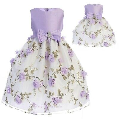NWT New Baby Flower Girl Lilac Wedding Dress 24 Months