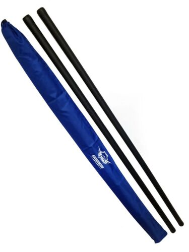 Pair Blue Foam Padded Bo Staff Karate Martial Arts with Armory Carry Case