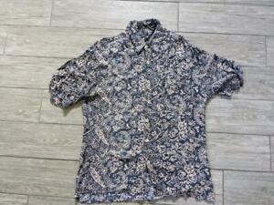 1980s Vintage Guess Paisley Rayon Shirt Large Blue Ebay