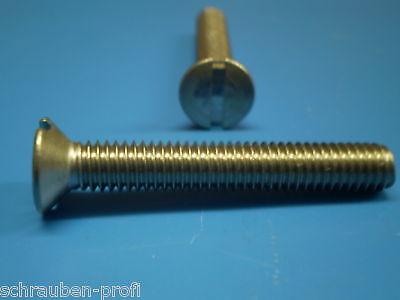 10 Stück M2X25 Schlitzschrauben Senkkopf DIN 963 Edelstahl A2