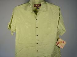 Caribbean-Joe-Palm-Camp-Shirt-Citrus-M-Mens-New-NWT
