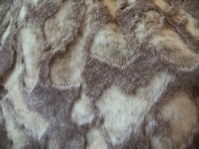 BEIGE AND CREAM RABBIT FAUX FUR UPHOLSTERY DRAPERY FABRIC BY THE YARD