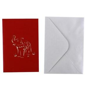 Up Card Graduation Birthday Gifts Elephant Greeting Origami Paper