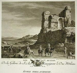 "Bartholomeus Breenbergh "" Les Ruinnes "" Gravure Varin Ed Couché 1786 Les Clients D'Abord"