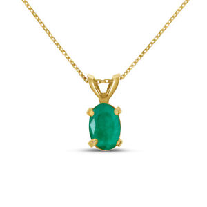 14k-Yellow-Gold-Oval-Emerald-Pendant-with-18-034-Chain