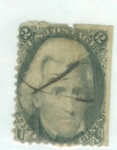 US-73  Andrew Jackson  2c issued 1861-66 cancelled