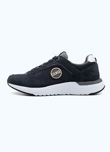 Dettagli su Sneakers Uomo Colmar Travis Tones Scarpe Pelle Blu Camoscio Bianco Grigio Nuove