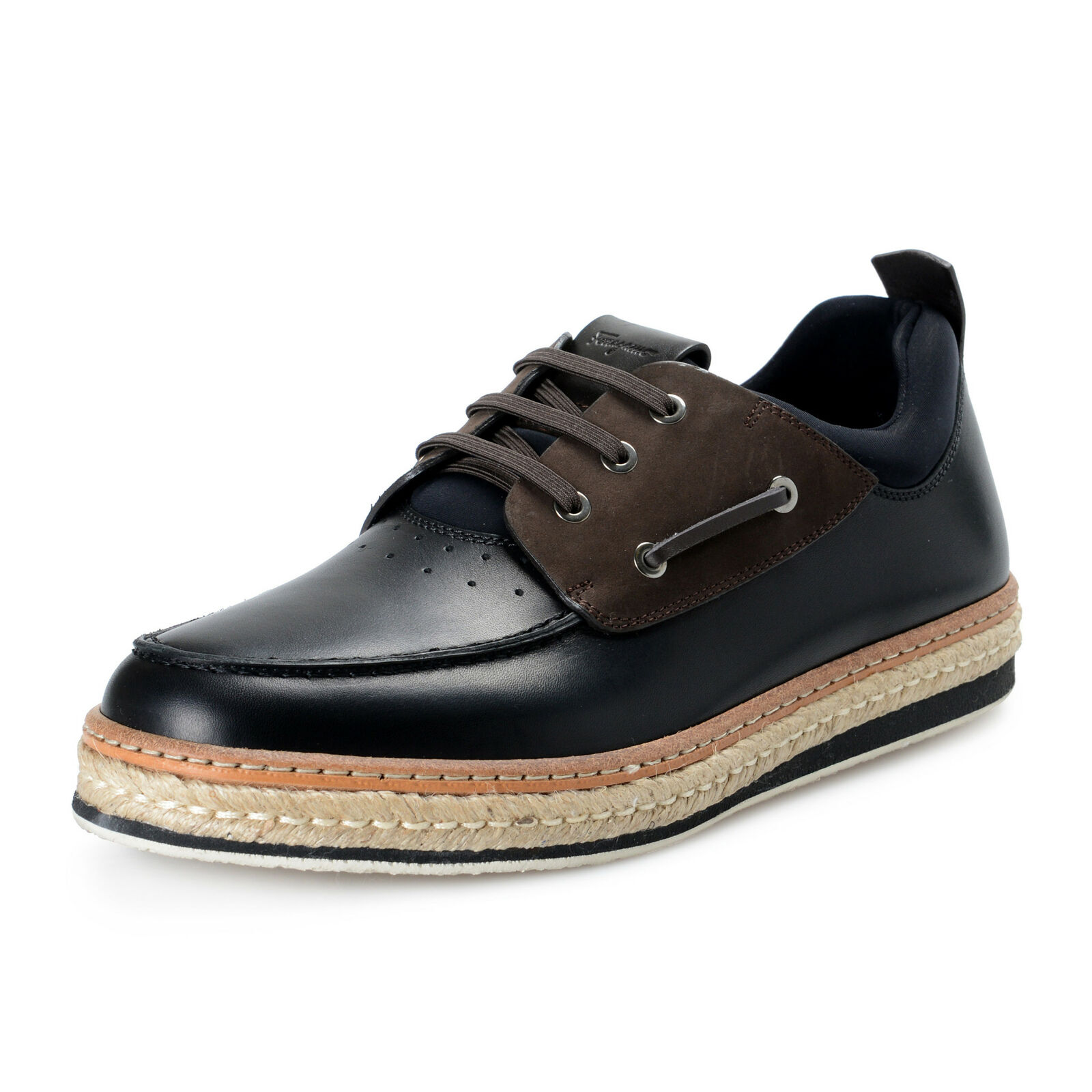 Salvatore Ferragamo Men's FIANO Leather Boat shoes sz 7.5 8 9.5 11 EE