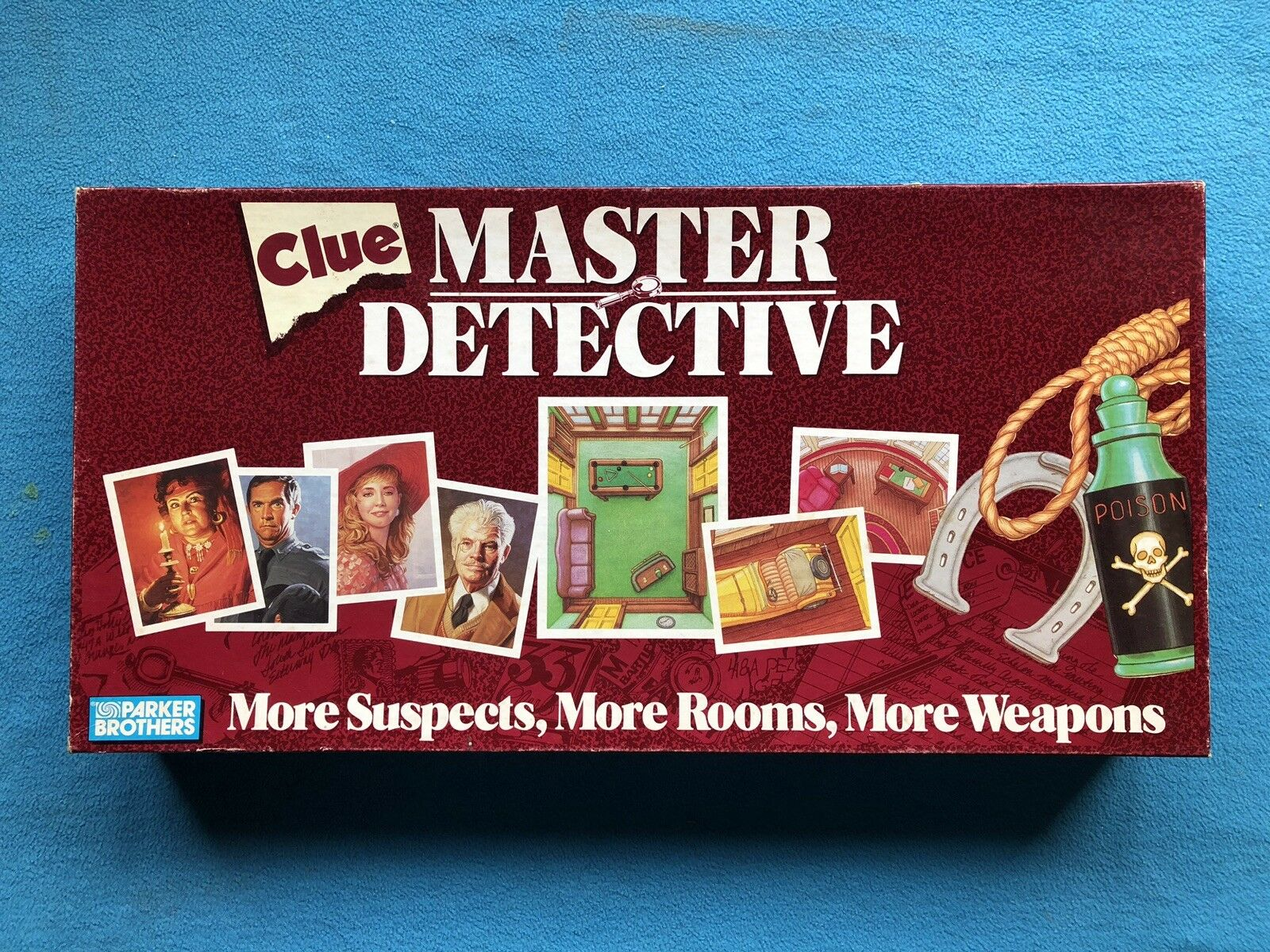 Clue Master Detective 1988 Parker Bredhers Board Game 100% Complete - Ships Free
