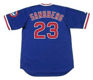 detailed look 67996 acf17 Details about RYNE SANDBERG Chicago Cubs 1984 Majestic Cooperstown  Throwback Baseball Jersey