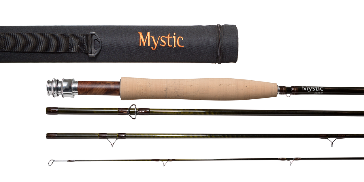 New Mystic Reaper Fly Rod 9 Foot 10 Weight 4 piece (wood reel seat)  W/Rod Case