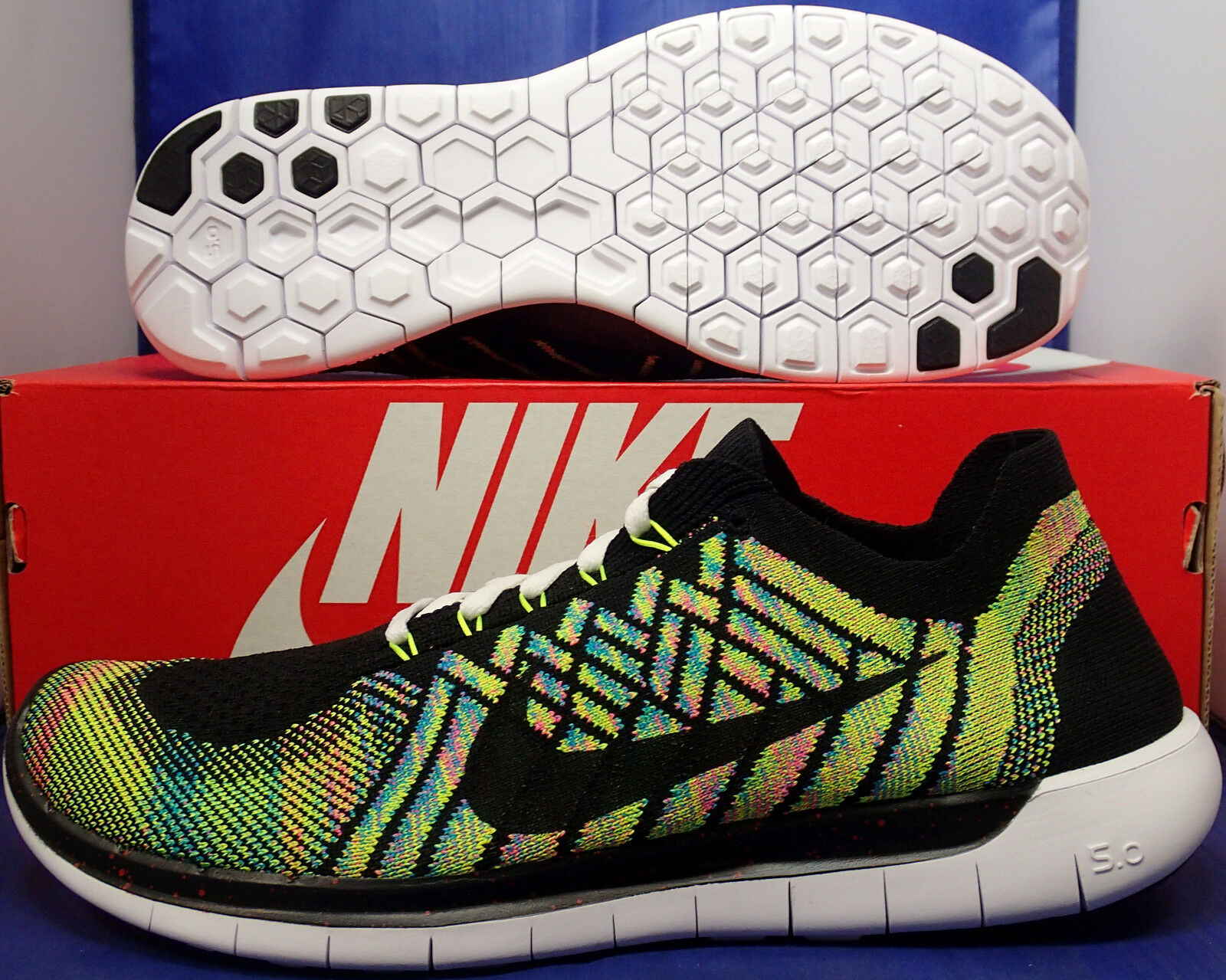 Womens Nike Free Flyknit iD 5.0 Multi-color SZ 11       Mens SZ 9.5 ( 776625-006 ) 529e34