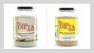 2 Ni Una Dieta Mas Whey Protein Isolate Vanilla Chocolate No Sugar Lactose Ebay