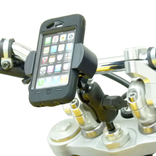 17.5mm 20.5mm Motorcycle Fork Stem Yoke Mount with RoadVise Mobile Phone Holde
