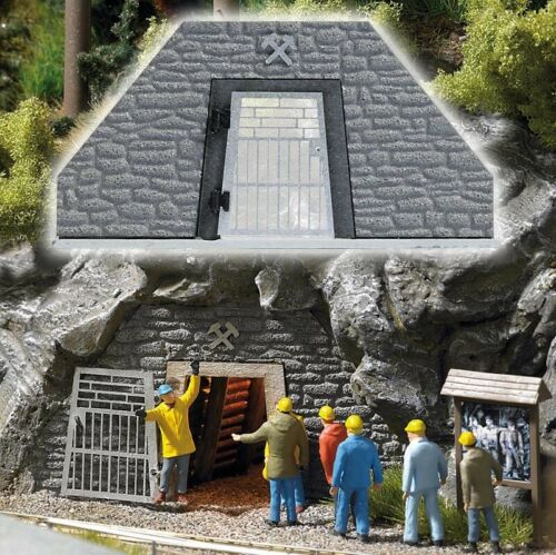 Busch 1472 Stolleneingang für Personen Bausatz Spur H0