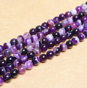 Wholesale-Lots-Natural-Purple-Striped-Agate-Gemstone-Loose-Spacer-Bead-4-6-810MM